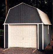12x20 Barn Garage with window and SmartSide wood siding in Virginia built by Sheds by Ken