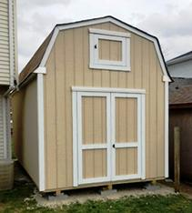 12x16 Barn Shed with loft door and SmartSide wood siding