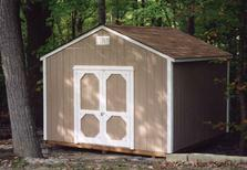 12x12 Gable shed with 5/12 roof pitch, SmartSide wood siding built in Virginia by Sheds by Ken