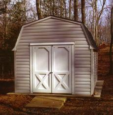 10x12 Barn Shed with vinyl siding