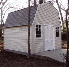 12x12 Barn Shed with windows, ramp and vinyl siding