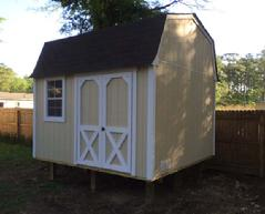10x12 Barn Shed with window, piers and SmartSide wood