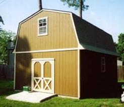 16x24 Barn Shed with windows and SmartSide wood siding