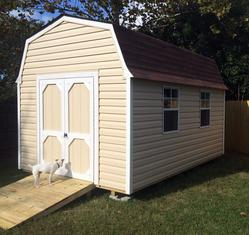 10x14 Barn Shed with windows, ramp and Vinyl siding