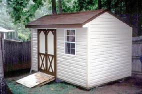 Backyard Ranch vinyl shed