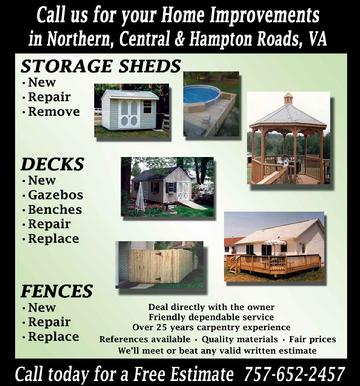 Budget Sheds builds storage sheds, decks, fencing and Gazebos